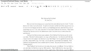compare and contrast essay for college compare essay examples college of comparison contrast example