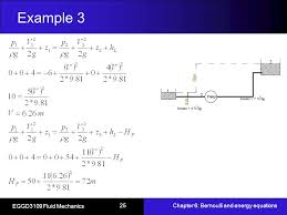 bernoulli and energy equations example 3 25 example