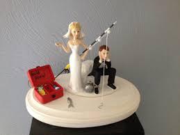 Elderly Wedding Cake Toppers Fishing Boat Rod Decoration Easy