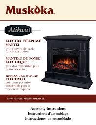 mm281cbl manuals electric fireplace muskoka