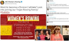 Twitter users troll USC rowing team for posters that says ...