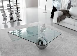 Contemporary Square Coffee Table Glass