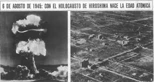Resultado de imagen de BOMBAS ATÓMICAS HIROSHIMA
