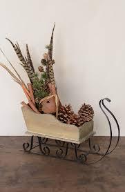 mini wooden sled cones indoor decor idea