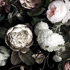 Dark Vintage Flower Wallpaper Hd ...