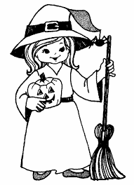 Halloween Witch Coloring Page Shamsinfo
