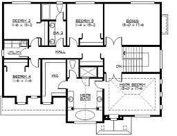 Floor plan single family home