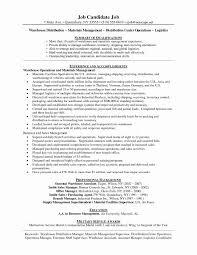 Resume For Warehouse Worker Unique Supervisor Job Description For