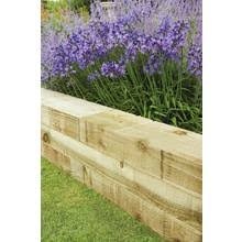 garden borders and edging. 1.2m Sleeper 2 Pack Garden Borders And Edging