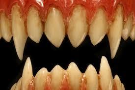 sharp teeth. moonstruck effects korrigan fx teeth with longer canines to create a demon smile sharp