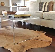 ... Coffee Table, Wonderful Clear Rectangle Minimalist Glass Acrylic Coffee  Table Design To Setup Living Room ...