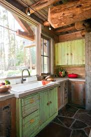 cabin kitchen ideas. Cabin Style Kitchen Cabinets Rustic With Reclaimed Everything Log Design Ideas N