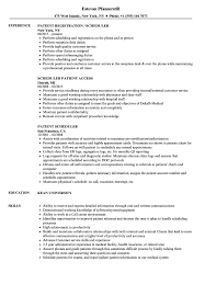 Scheduler Resume Sample Patient Scheduler Resume Samples Velvet Jobs 11