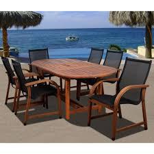 Bahamas oval 7 piece eucalyptus patio dining set