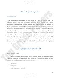 essays on management project management essay