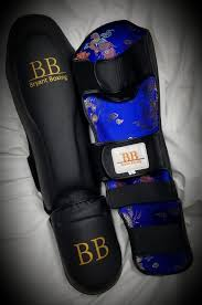 BB Thia Shinguards Black Pearl | Bryant Boxing Gear