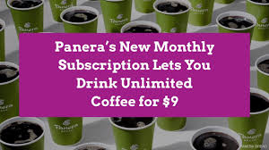 My wife had a breakfast with fellow classmates at the grill max next door, so i waited for her at this panera over coffee and a bagel. Panera Launches Your Cup Is Always Full A Coffee Subscription Service Better Homes Gardens