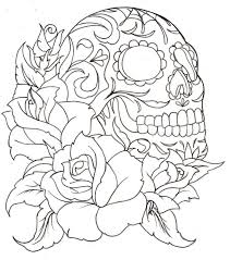 Small Picture Sugar Skull Coloring Page Az Pages Rtayykqgc adult