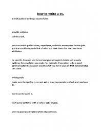 How To Write A Brief Resumes How To Write A Short Resume Rome Fontanacountryinn Com
