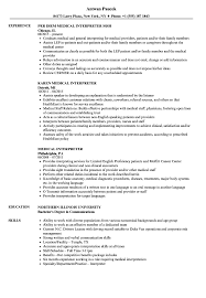 Medical Interpreter Resume Medical Interpreter Resume Samples Velvet Jobs 1