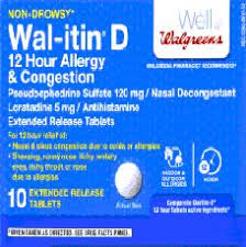 Wal Itin Dosage Chart Allergy Ccr Ast 00001 09 Ft 66in Rt Pharmacy Cap