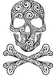 Sugar Skull Coloring Pages For Adults Sugar Skull Coloring Page Free