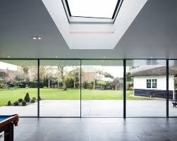 structural glazing and sky frame sliding doors