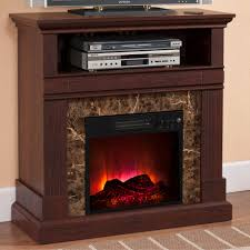 electric fireplace with mantle deep walnut com