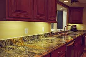 ... Kitchen Under Counter Lighting Led Gallery White Colored Light Round  Shape Wooden Cabinet Top Glossy Marble ...