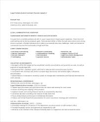Executive Assistant Resume Examples Enchanting Resume Template Legal Administrative Assistant Resume Sample Free