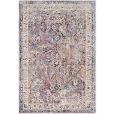 safavieh bristol qum lavender light gray indoor area rug common 8 x 10