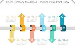 Road Map Powerpoint Linear Company Milestones Roadmap Powerpoint Show Powerpoint Templates