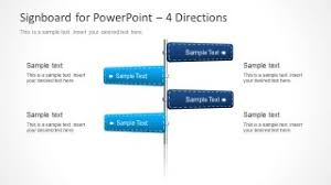 Signboard Template Signboard Powerpoint Template With Arrows Slidemodel