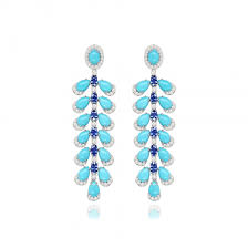 sutra turquoise chandelier earrings