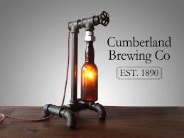steam bottle diy pipe lamp table lamps