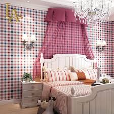 Red Wallpaper For Bedroom Aliexpresscom Buy Red White Blue Mosaic Scottish Plaid