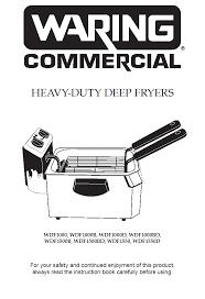 waring wdf1000 countertop deep fryer owner s manual
