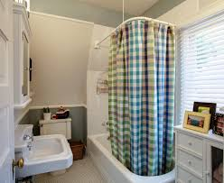 Curtain Bath With Blue Color In Image Modern Home Kids Bathroom Design Ideas  With White Bathtub ...