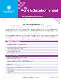 bare minerals acne education