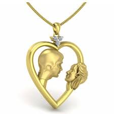 happy couple face pendant gold pendants for women gold pendants zomint