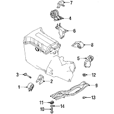 parts com® kia insulator lower partnumber 0k20139830 2003 kia spectra base l4 1 8 liter gas engine trans mounting