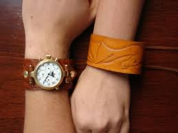 view in gallery leather cuff watch band