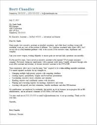 Executive Assistant Cover Letter Sample Monster Inside Executive