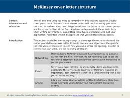 Cover Letter Mckinsey Mckinsey Cover Letter Structure Contact Information And Salutation