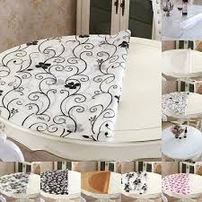 details about round pvc table clear soft cover tablecloth glass protector desk mat pad desktop