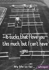 It Sucks That I Love You This Much But I Can't Have You Beauteous Love U Cant Have