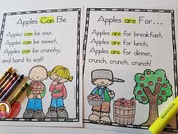 Pocket Chart Poems For Kindergarten Apple Poems For Shared Reading Anchor Charts Mrs Mcginnis