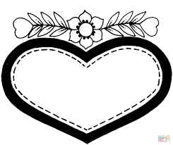 Small Picture Valentines Day heart coloring page Free Printable Coloring Pages