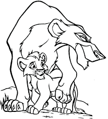Coloring Page Of Lion Lion King Color Pages Scar And His Son The