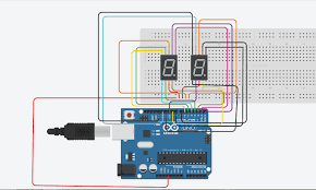 00 to 99 on seven segment displays arduino project hub the connections